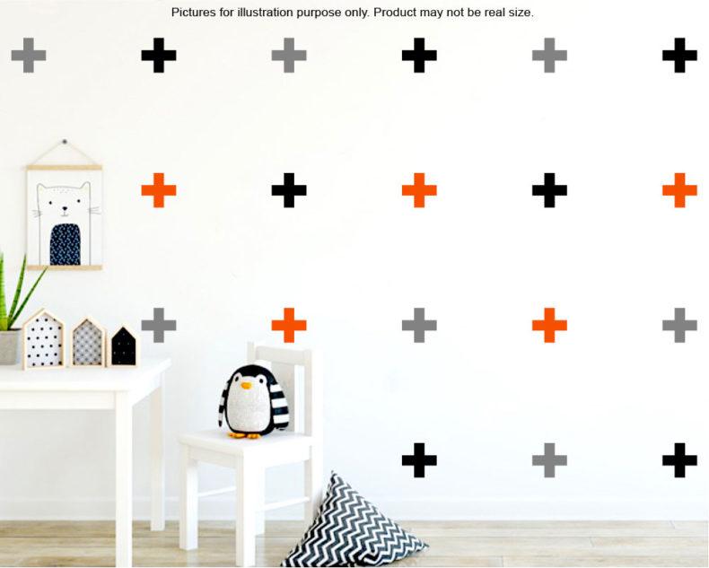 Swiss cross wall stickers
