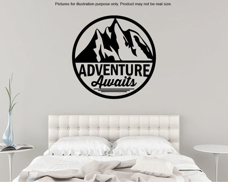 Adventure awaits wall decal