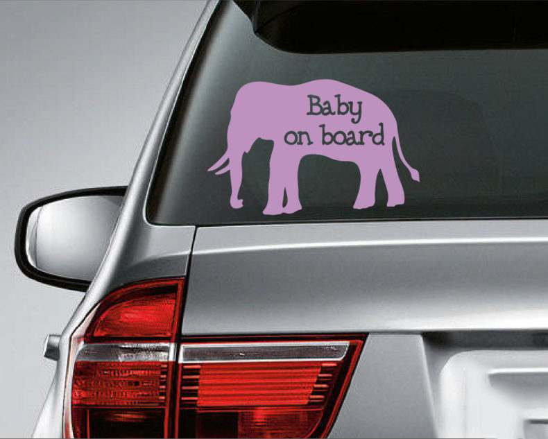 Baby on board decal-purple