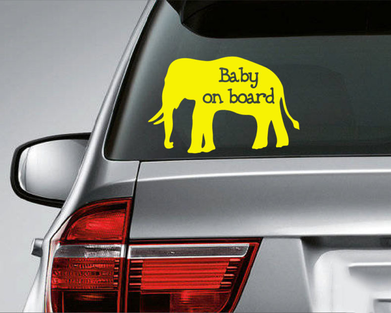 Baby on board decal-yellow