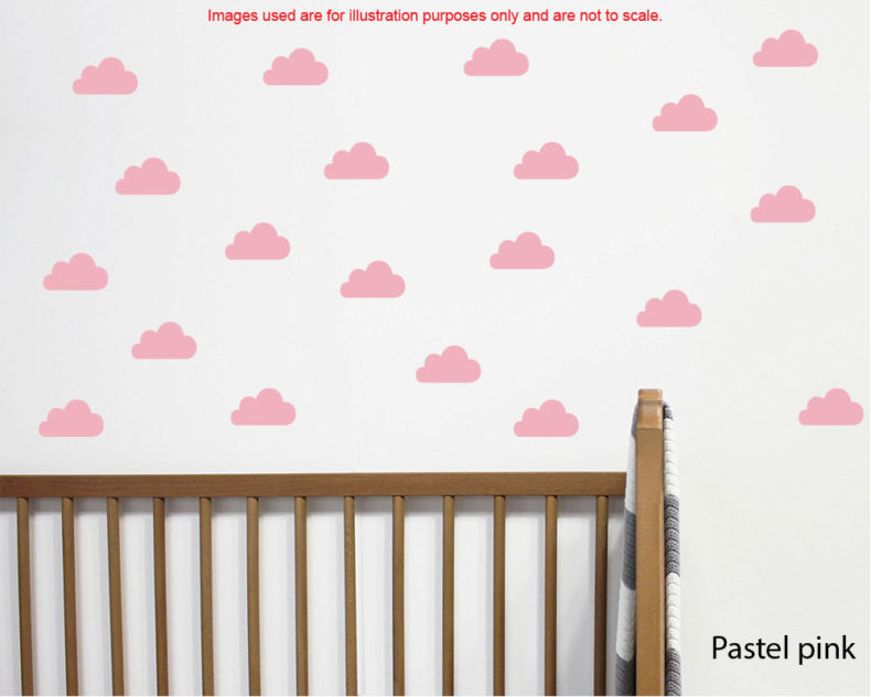 Mini clauds wall decals