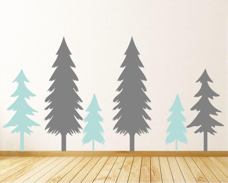 Pine tree decals