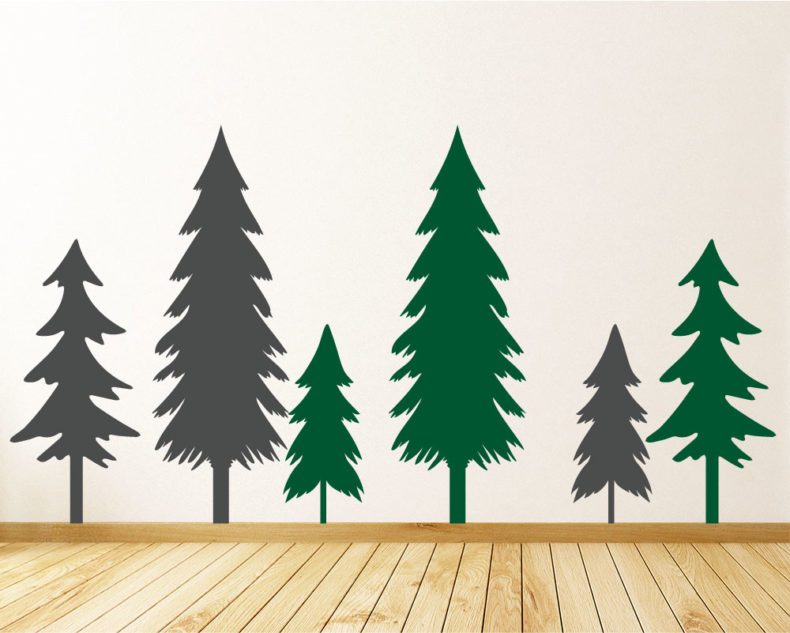 Trees and forest decals