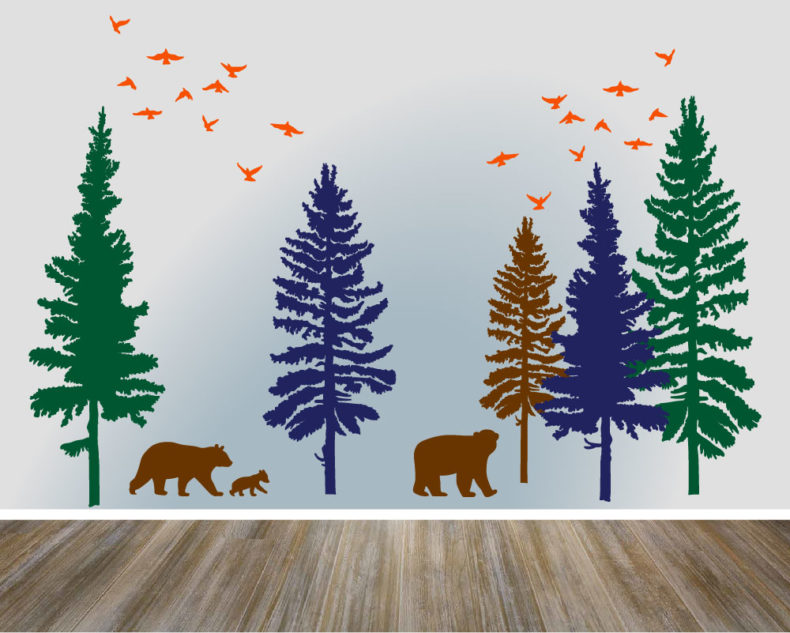 Woodlands wall decal