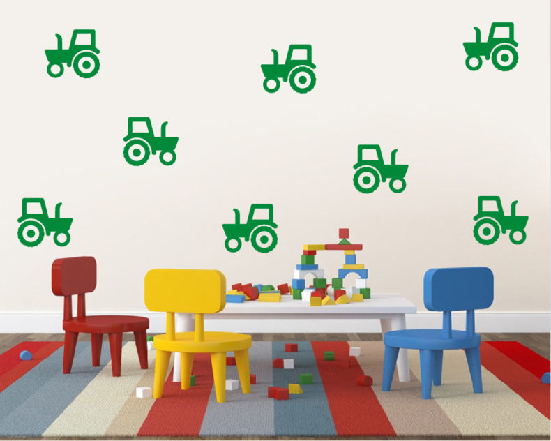Tractor wall stickers