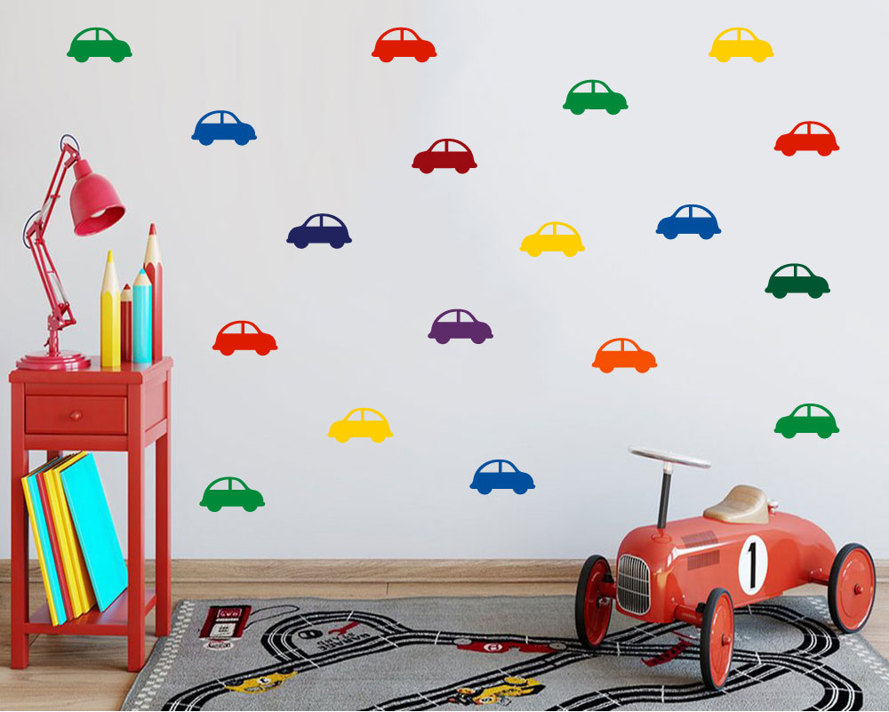 Car pattern wall decals