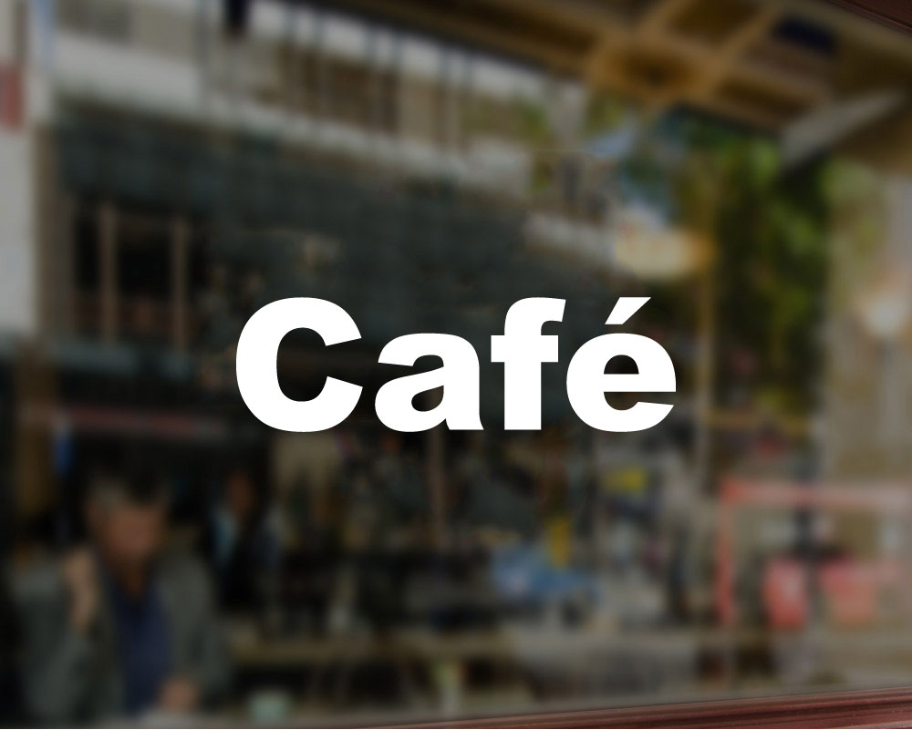 Cafe shop decal