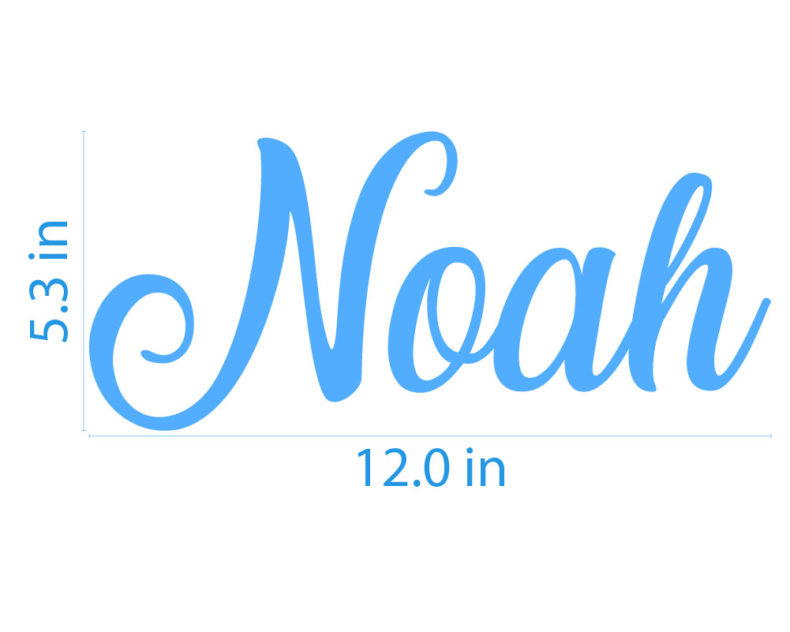 Noah name wall decal