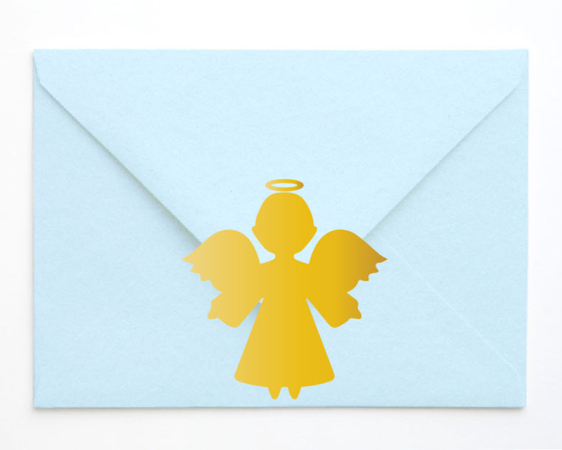 Gold angel stickers
