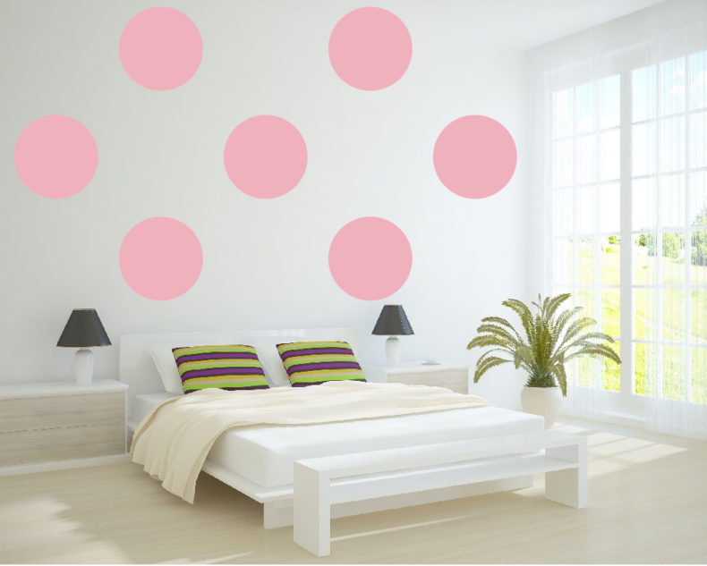 Large polka dots decals