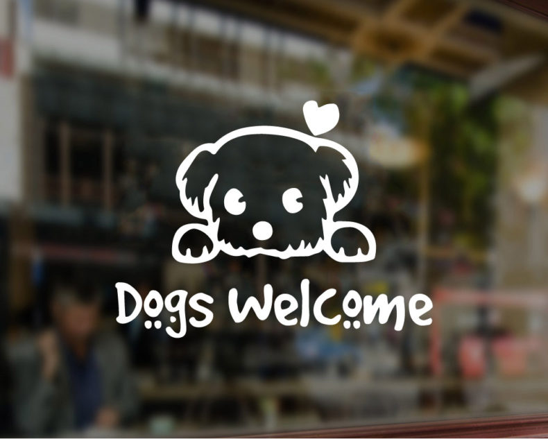 Dogs Welcome decal